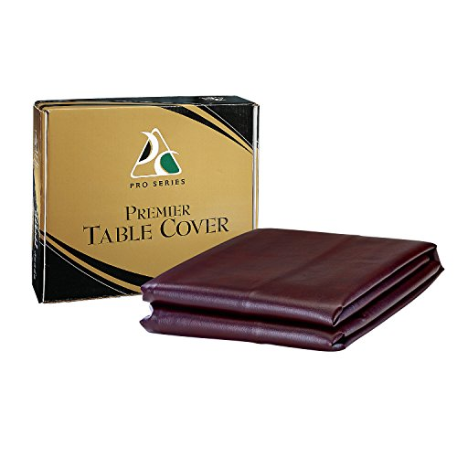 Pro Series TC8BG Premier Leatherette Pool Table Cover, Burgundy, (Burgundy Leatherette Cover)