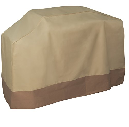 Heavy Duty Rain Cover - OxGord Water-Proof Grill Cover, 71x22x43 Inch Heavy-Duty BBQ Gas Charboil Garden Patio Protector Rain/Water Proof Large, Brown