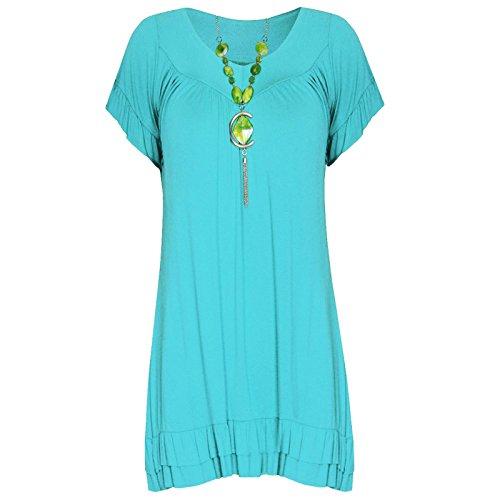 Aqua da lunga Colletto scollo a donna 26 Ahr a manica Gypsy Collo corte a UK 8 maniche con Gypsy V tRHw1