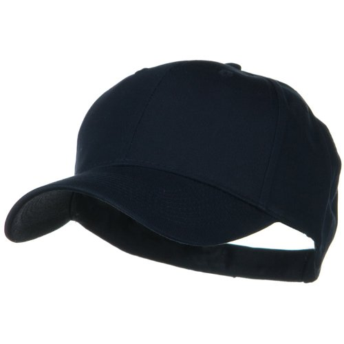 Solid Cotton Twill Low Profile Strap Caps - (Navy Low Profile Cotton Twill)