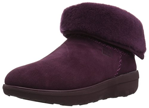 FitFlop Women's Mukluk Shorty II Boot, Deep Plum, 8 M US