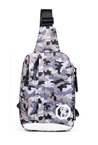 Chest Sports Shoulder camouflage Pack Unisex Crossbody Bag Pattern Casual Grey Outdoor 1YwE5xH