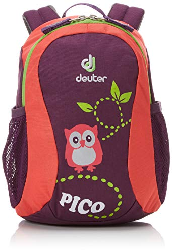 Deuter Pico, Unisex Kids' Backpack, Multicolour (Plum/Coral), 24x36x45 cm (W x H L)