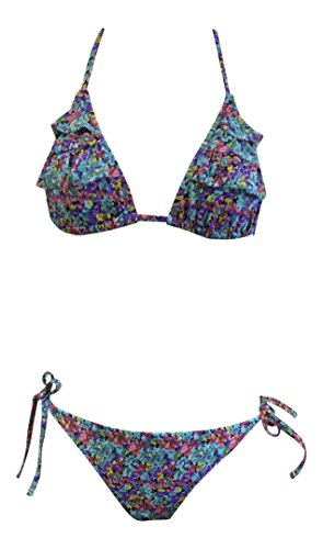 Ladies Halter Neck High Waisted Vintage Bikini In 6 Styles And 3 Sizes  M  6 8 Us  Floral