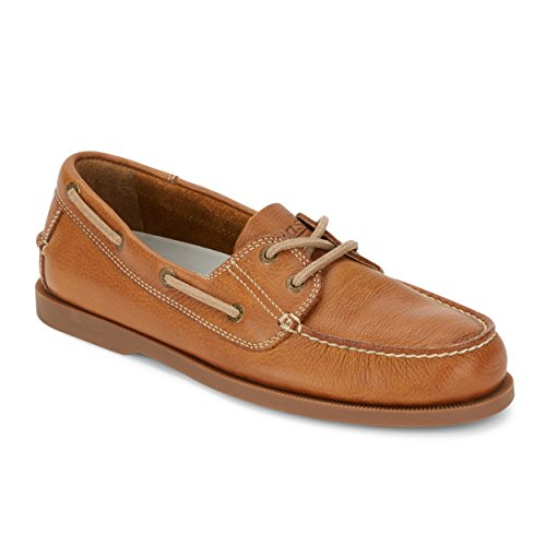 (G.H. Bass & Co. Mens Asbury Classic Leather Boat Shoe, Tan, 11.5 M)
