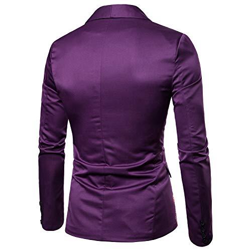 Shawnlen Homme Décontracté Loisirs Pour Blazer Costume Slim Élégant Fit Violet Mariage Jacquard wE4Iqwrxn