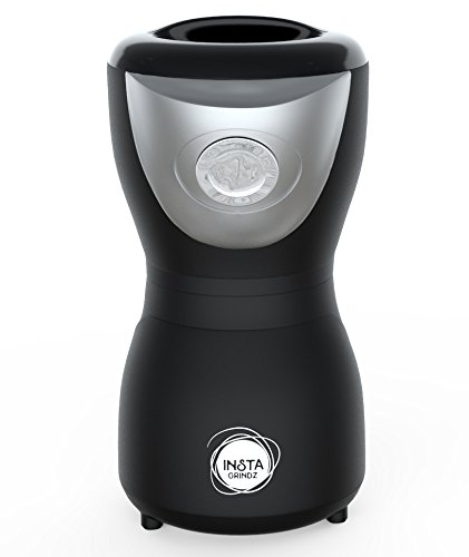 electric-coffee-grinder-instagrindz-black-one-touch-easy-plug-in-unit-with-stainless-steel-blades-qu