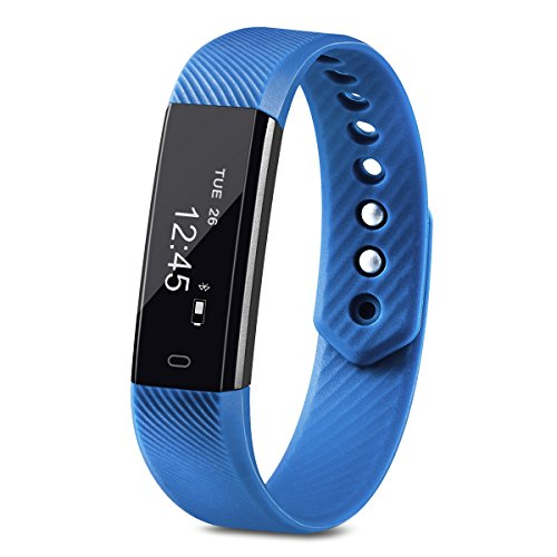 UPC 736561503796, Fitness Tracker, Homogo Smart Band Activity Health Tracker with Slim Touch Screen for Step Distance Calories track, Sleep monitor, pedometer and more (Blue)