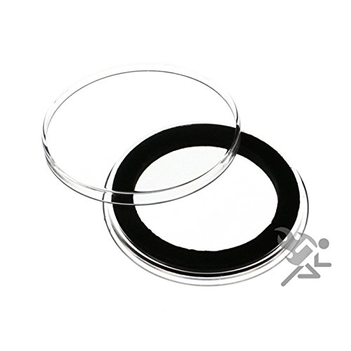 (10) Air-tite 36mm Black Ring Coin Holder Capsules for Canadian One Dollar and 1/2oz Silver Koala