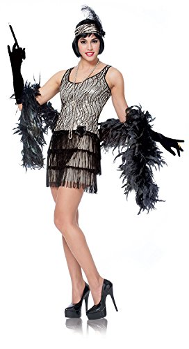 Silver Broadway Flapper Adult Costume(medium)