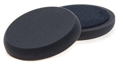 BenBow 2 X spugna per lucidatura liscia Nero 25 mm 150 mm Velcro Start