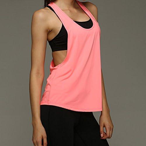 Violet L Kentop D/ébardeurs Shirt De Sport Femme Gilets de Sport Debardeur Femme Sport /Ét/é en Vrac Gilet de Sport T-Shirts et Tops Vest Fitness Yoga Sport Gym 1PCS