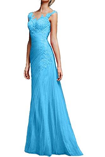Promkleider Abendkleider Meerjungfrau Partykleider Blau Glamour Traeger Lang Neu Spitze Ivydressing XxTCw05AXq