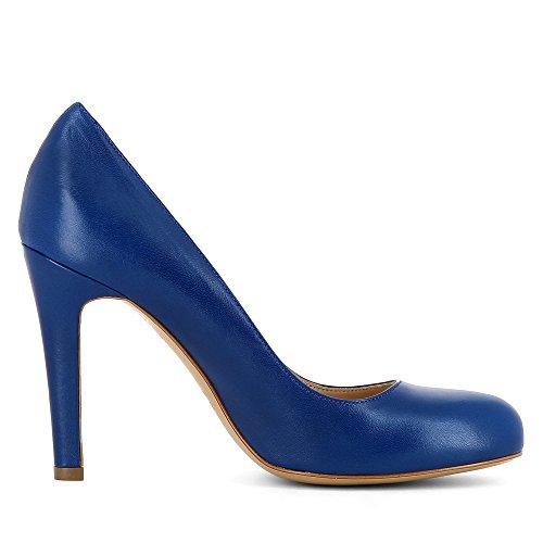 Escarpins Shoes Cuir Femme Bleu Lisse Cristina Evita qPxFwEx