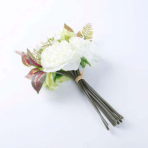 MARLLES-Real-Touch-Artificial-Bridal-Peony-Bouquet-in-Lavender-and-Pink-Faux-Rose-Flowers-Wedding-Bouquets-for-Bridesmaids-Party-Home-Decor-115-Tall-White