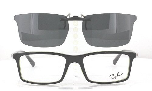 Amazon.com: RAY-BAN 5269-53X17 POLARIZED CLIP-ON SUNGLASSES (Frame NOT Included): Shoes