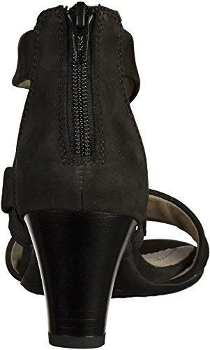 ara12-34665-01 Rosso - Sandalias de Punta Descubierta Mujer Negro - negro