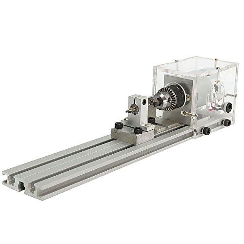 80W DC 24V Mini Lathe Beads Machine Woodworking DIY Lathe Standard Set by SPK603