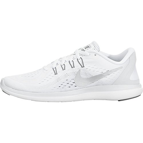 NIKE Women's Flex 2017 RN Running Shoe (7.5 B(M) US, White/Metallic/Silver) by NIKE