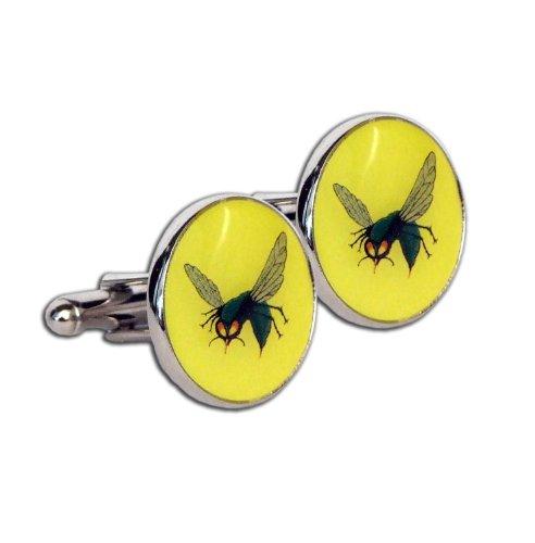 Star Yellow Cufflinks (The Green Hornet TV Series Collector Dark Chrome Cufflink Set)