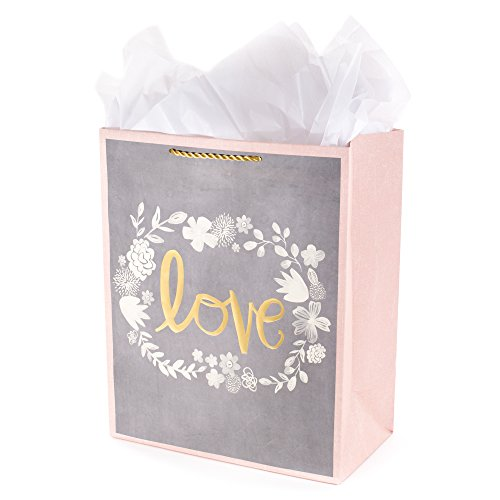 - Hallmark Large Gift Bag with Tissue Paper (Love Wedding Flowers)