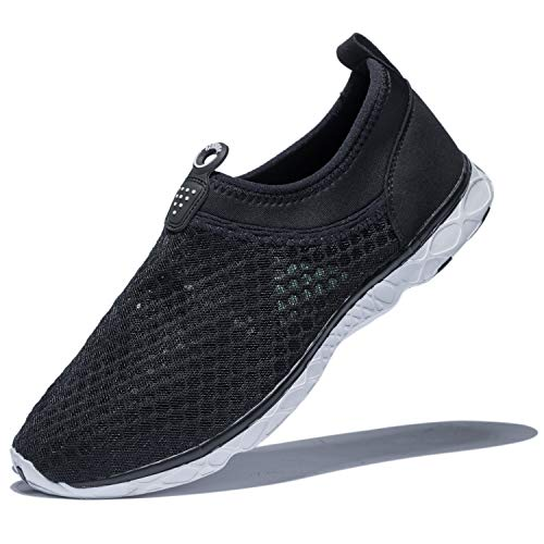 KENSBUY Men's Summer Mesh Shoes,Outdoor Beach Aqua Shoes,Running,Walking EU41 Black by KENSBUY (Image #8)