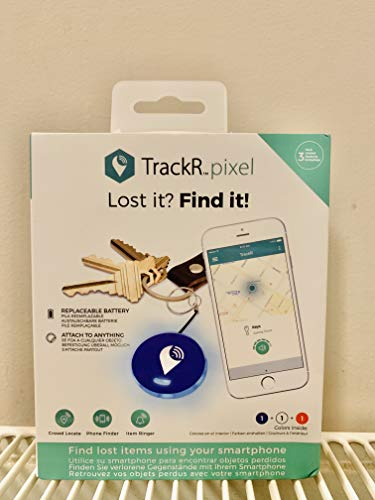 TrackR Pixel - Bluetooth Tracking Device. Item Tracker. Phone Finder. iOS/Android Compatible - Red White Blue (3 - Pack)