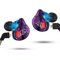 BINDEN Audífonos Híbridos KZ ZST Pro con Ultra Alta Fidelidad, Sistema Híbrido, Cable Desmontable, Memory Wire, Cámara Acústica, Conector Jack 3.5mm - Candy