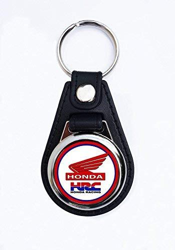 Mando Vintage Sign Designs Calidad Premium Imitaci/ón Cuero Motocicleta Honda Llavero
