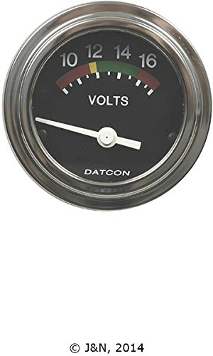 101910D - Datcon Instruments, Voltmeter, Electric, 8-18 Volts DC, 12V - by A&I, JN