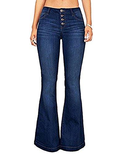 - CNJFJ Women's Bell Bottom Jeans High Waist Denim Wide Leg Full Length Pants