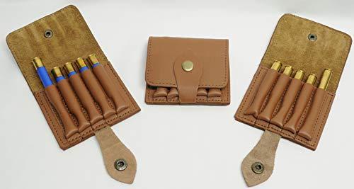 Olson Sports 410 Shotgun Shell 30-06 Rifle Cartridge Holder for Your Belt Tan Leather