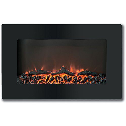 Cheap Cambridge Callisto 30 In. Wall-Mount Electronic Fireplace with Flat-Panel and Realistic Logs Black Friday & Cyber Monday 2019