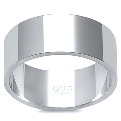 8mm Band Sterling Silver Ring - 9