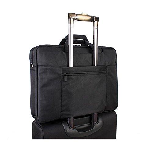 HQ 17.3-18.4 Zoll Multifunktionale Portable Laptoptasche Business Aktentasche Rucksack Schultertasche Schwarz 9u9U4Z