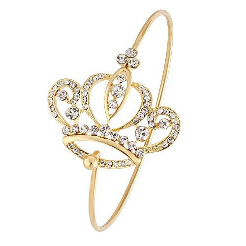 NOUMANDA Imperial Crystal Crown Bangle Bracelet for Women