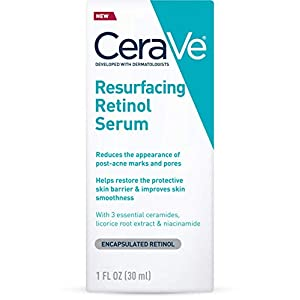 CeraVe Retinol Serum for Post-Acne Marks and Skin Texture | Pore Refining, Resurfacing, Brightening Facial Serum with…