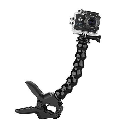 Kobwa mandíbulas flex abrazadera de montaje con 8junta ajustable cuello de ganso para todos GOPRO Hero cámara de deporte...