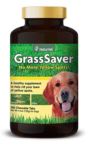 NaturVet - GrassSaver Supplement for Dogs - Healthy Supplement to Help Rid Your Lawn of Yellow Spots - Synergistic Combination of B-Complex Vitamins & Amino Acids - 250 Tablets