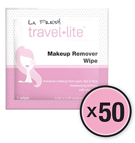 La Fresh Makeup Remover Cleansing Travel Wipes Natural, Biod