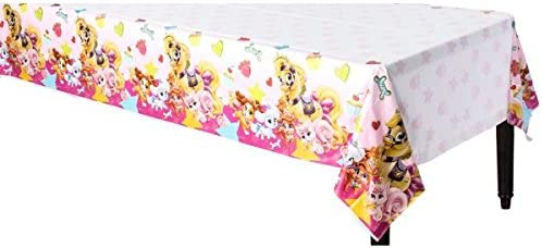 Party Accessory 54 x 96 1 ct Amscan 571581 Plastic Table Cover Pink Disney Palace Pets Collection
