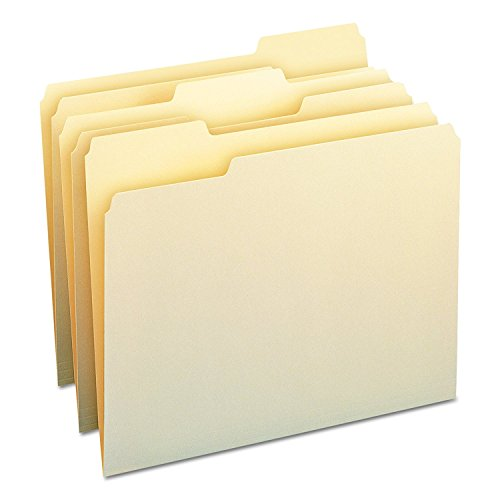 Smead File Folder, 1/3-Cut Tab, Letter Size, Manila , Assorted Positions, 100 Per Box (10330) -
