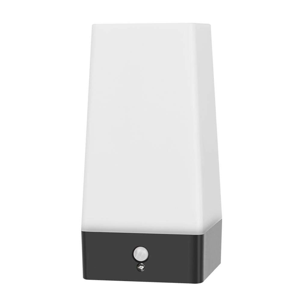 Matefielduk Lámpara de LED cuadrada Sensor de movimiento Sensor de luz Control doble Inducción Luz nocturna - - Amazon.com