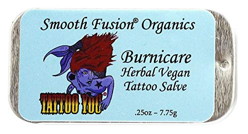 Tattoo Care - Ear Care Premium Quality Vegan Herbal Tattoo Salve, Stretched Ear Lobe Cream, 15 Non-GMO Certified Organic Ingredients, Stretching Ear Balm, Stretched ear oil, Gauge Stretching Aftercare