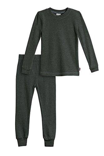 City Threads Little Boys Thermal Underwear Set Perfect for Sensitive Skin SPD Sensory Friendly, Black- 2T