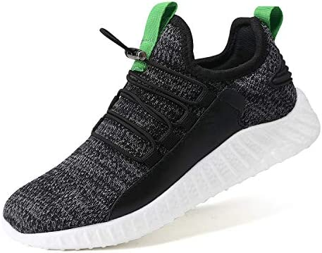 COOJOY Kids Running Trainers Girls Boys Slip on Breathable Walking Shoes Child Lightweight Outdoor Sport Athletic Sneakers
