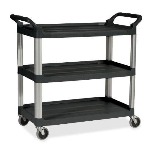 (Rubbermaid Commercial Utility Cart, 3 Shelf, Black, (FG342488BLA) by RubbermaidCommercial)