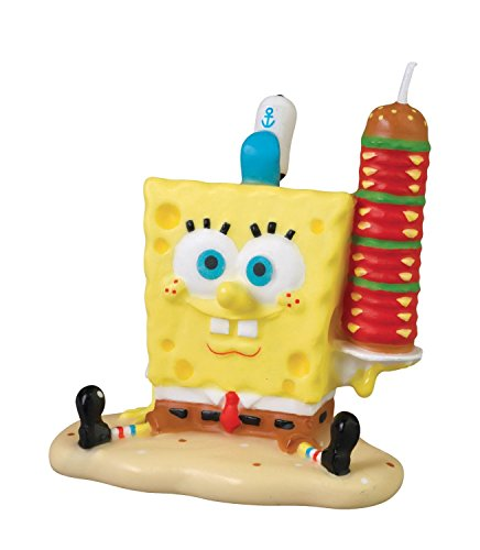 Wilton Spongebob Square Pants Licensed Birthday Candle