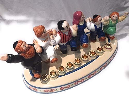 (Lotus International Judaica Dancing People Ceramic Menorah)