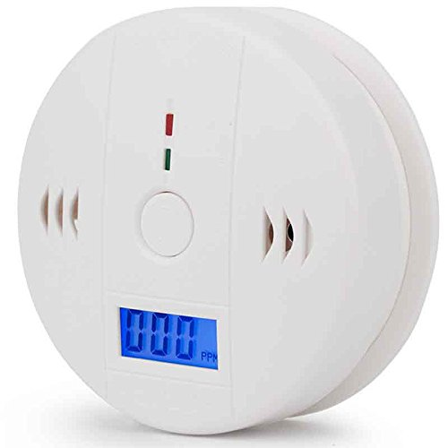 Carbon Monoxide Alarm With Digtal Display More Accurate LCD Security Gas CO Monitor ,Alarm Clock Warning,Battery Operated,Power Detection Equipment (Battery not included) (White) by EHOLIFE (Image #7)